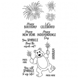 Nicole Tamarin Clear Stamp Set - Sparkler Bear NTLCS-006