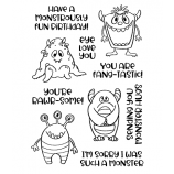 Nicole Tamarin Clear Stamp Set - Little Monsters NTMCS-009