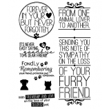 Words to the Rescue Clear Stamps: Pet Sympathy SFC028