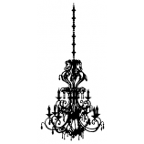 Suzanne Carillo Wood Mounted Stamp - Chandelier K3-2576