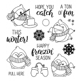 Clear Stamp Set: Tons of Fun Penguins ASSCS-040