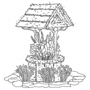 Michelle Masters Cling Mount Stamp - Wishing Well AGC1-2624