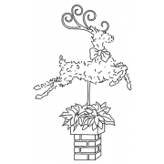 Michelle Masters Cling Mount Stamp - Topiary Reindeer AGC1-2631