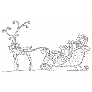 Michelle Masters Cling Mount Stamp - Sleigh Topiary AGC1-2684