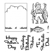 Clear Stamps: Fishing Dad View Maker ASSCS-044