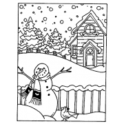 Carolee Jones Cling Mount Stamp - Winter Scene AGC1-985