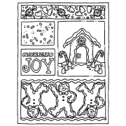 Carolee Jones Cling Mount Stamp - Gingerbread Mini Frame AGC2-103