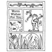 Carolee Jones Cling Mount Stamp - Worm Wishes Mini Frame AGC2-1528