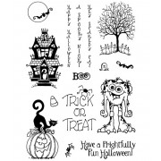 Carolee Jones Clear Stamps: Frightfully Fun Halloween ASMCS-048