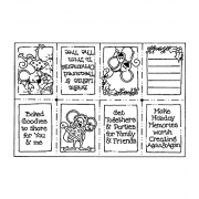 Carolee Jones Cling Mount Stamp: Holiday Memories Book RX3-755