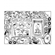 Carolee Jones Cling Mount Stamp: Little Boy Frame RX3-2216