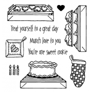 Carolee Jones Clear Stamps: What's Cookin' SC-2437