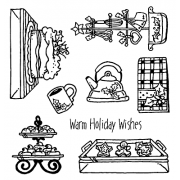 Carolee Jones Clear Stamps: Holiday What's Cookin' SC-2460