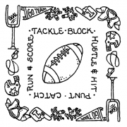 Carolee Jones Simple Squares - Football SC-2585