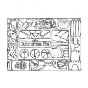 Carolee Jones Cling Mount Stamp: Summer Frame RX3-2144