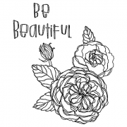 Catherine Scanlon Cling Mount Stamp Set - Be Beautiful CSCS-2813
