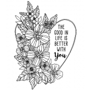 Catherine Scanlon Cling Mount Stamp - Better With You AGC3-2846
