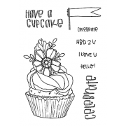 Catherine Scanlon Clear Stamp Set - Cupcake MC-2782