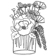 Catherine Scanlon Cling Mount Stamp - Elegant Bouquet AGC2-2789