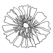 Catherine Scanlon Cling Mount Stamp - Fancy Flower AGC1-2788