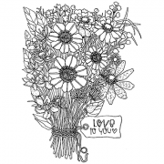 Catherine Scanlon Cling Mount Stamp - Love to You Bouquet AGC3-2827