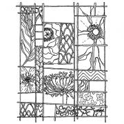 Catherine Scanlon Cling Mount Stamp - Nature Grid AGC3-2690