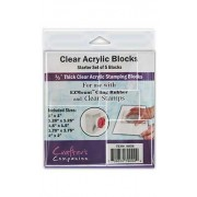 Crafters Companion Clear Acrylic Blocks - AH08