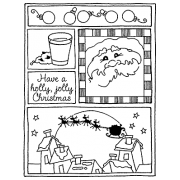 Darby New Cling Mount Stamp - Holly Jolly Mini Frame AGC2-1009