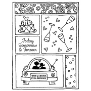 Darby New Cling Mount Stamp - Just Married Mini Frame AGC2-1047
