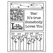 Darby New Cling Mount Stamp - Love AGC2-640