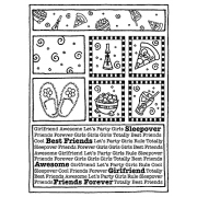 Darby New Cling Mount Stamp - Girls Mini Frame AGC2-761