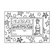 Darby New Cling Mount Stamp: Celebration Frame RX3-1995