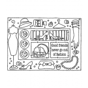 Darby New Cling Mount Stamp: Fashion Frame RX3-2361