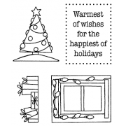 Darby New Clear Stamps: Christmas View Maker MC-2419
