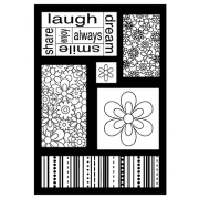 J. Clare Cling Mount Stamp - Laugh Cutts Apart AGC3-2496