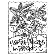 Joanne Sharpe Cling Mount Stamp - Paradise AGC2-2472