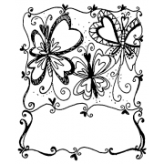 Joanne Sharpe Cling Mount Stamp - Butterflight Artful Cardmaker AGC2-2553