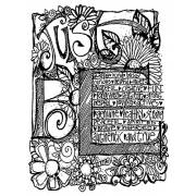 Joanne Sharpe Cling Mount Stamp - Just Be Journalings AGC3-2558