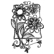 Joanne Sharpe Cling Mount Stamp - Whimsy Stems Journalings AGC3-2559