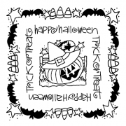 Joanne Sharpe Simple Squares - Halloween SC-2458