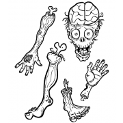 Len Peralta Cling Mount Stamps: Zombie Body Parts CSCS-2859
