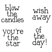 Cling Mount Stamp Set - Blow The Candles M-1492