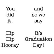 Cling Mount Set - Graduation Day M-1712