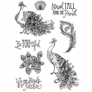 Nicole Tamarin Cling Mount Stamp Set - Proud Peacocks NT-016