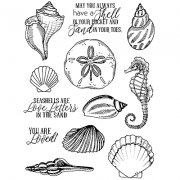 Nicole Tamarin Cling Mount Stamp Set - Seashells NT-022
