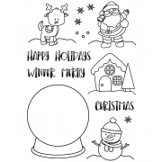 Clear Stamp Set: Snow Globe Scenes ASMCS-038