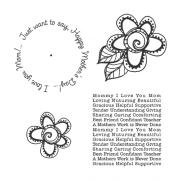 Carolee Jones Wheel Cling Stamp Set - Mother's Day ASCS-006