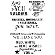 Words to the Rescue Clear Stamps - Military Thanks SFC027