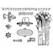 Suzanne Carillo Cling Mount Stamp Sets - Adventure BZ009