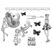 Suzanne Carillo Cling Mount Stamp Sets - Confidence BZ010